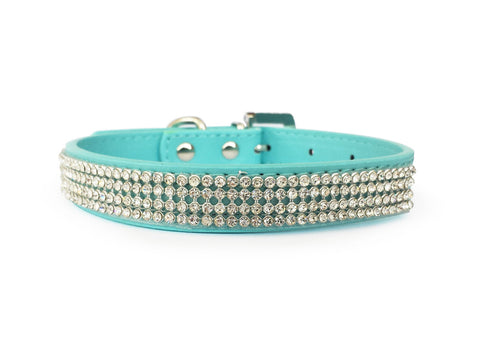 Blue Diamante Collar