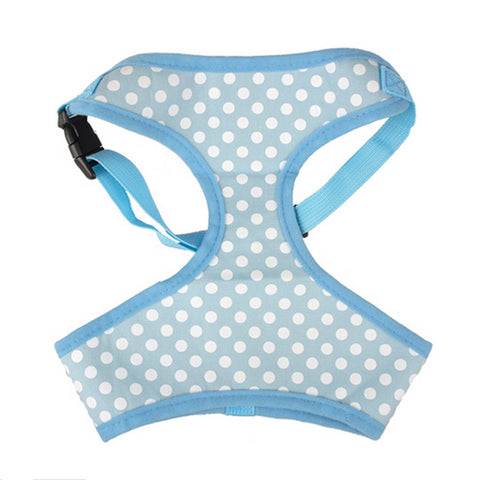 Blue Polka Dot Dog Harness