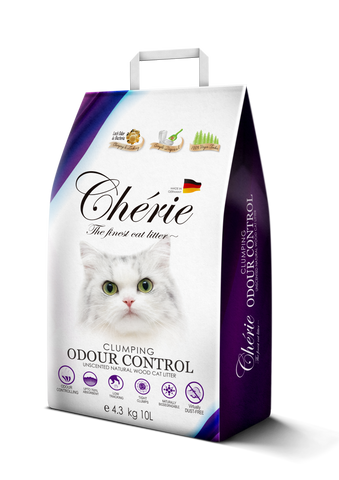 Chérie, Unscented Clumping Natural Wood Cat Litter