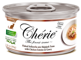 Chérie, Flaked Yellowfin mix Skipjack Tuna with Chicken Entrées in Gravy (Signature Gravy Series) - 24 cans/ctn