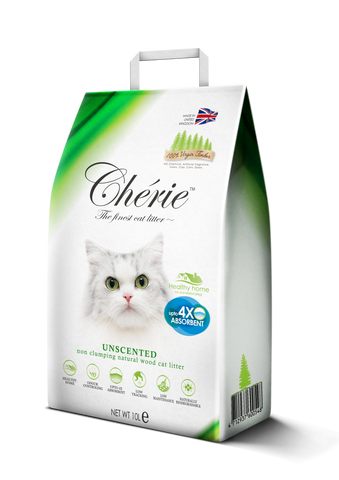 Chérie, Unscented Non-clumping Natural Wood Cat Litter