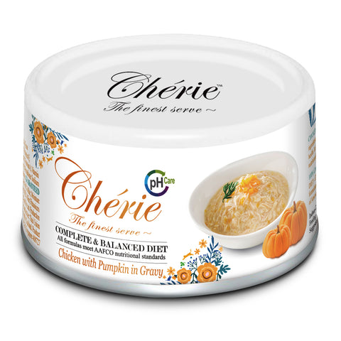 Chérie, Chicken with Pumpkin in Gravy - URINARY CARE (Complete & Balanced Series) - 24 cans/ctn