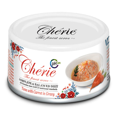 Chérie, Tuna with Carrot in Gravy - URINARY CARE (Complete & Balanced Series) - 24 cans/ctn