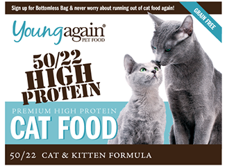Young Again, 50/22 Premium High Protein Cat Food