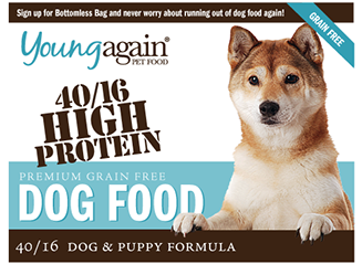 Young Again Premium High Protein Dog Food