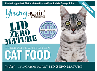 Young Again, LID Zero Mature Premium High Protein Cat Food