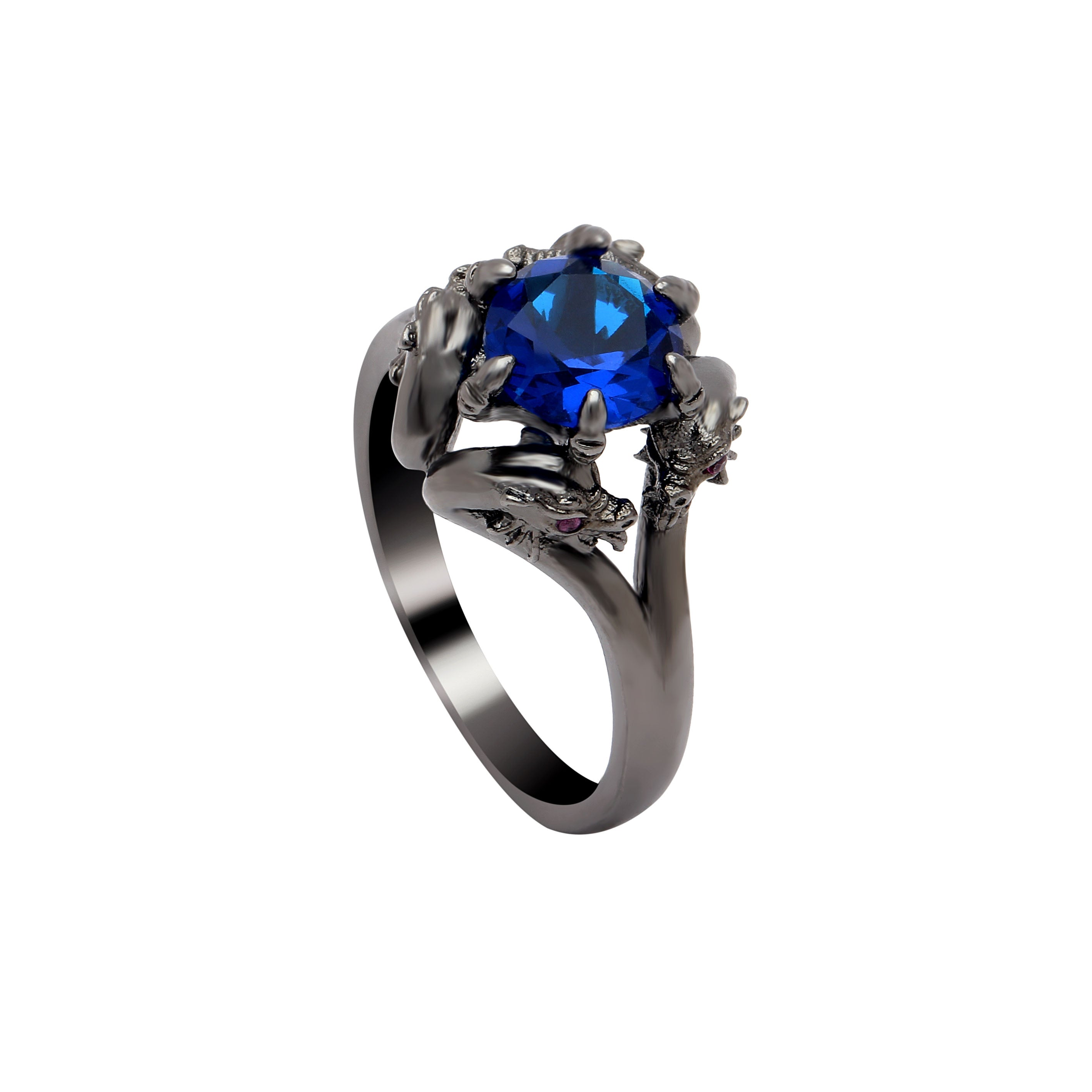 blue magic products jewelry rock vintage fashion birthday cz gold ring for men engagement rings filled dragon big planet crystal punk cool black head