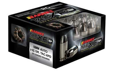 Barnes Tac-XPD 9mm Luger 115 Grain Jacketed Hollow Point