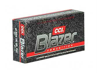 CCI Blazer Aluminum 40 Smith & Wesson 180 Grain Full Metal Jacket