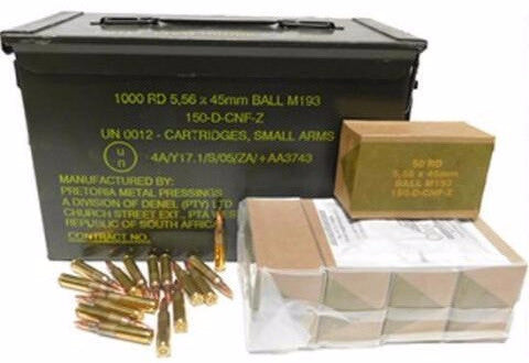Century Arms 5.56x45 NATO 55 Grain M193 Full Metal Jacket - 1000 Round Case