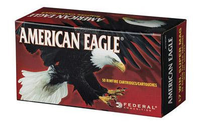 Federal American Eagle 17 Winchester Super Magnum 20 Grain Varmint Poly Tip