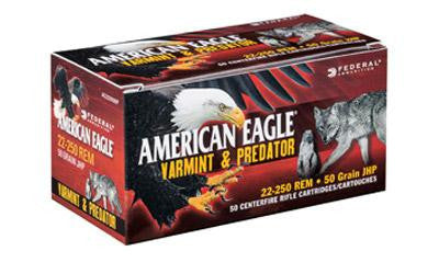 Federal American Eagle Varmint & Predator 223 Remington 50 Grain Jacketed Hollow Point