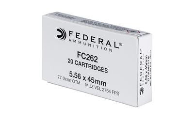 Federal FC262 5.56x45 NATO 77 Grain Boat Tail Hollow Point Sierra Matchking