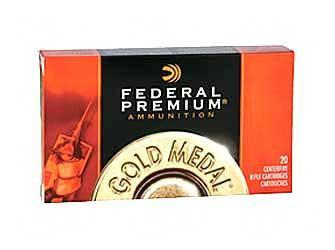 Federal Premium Gold Medal 308 Winchester 175 Grain SMK Boat Tail Hollow Point