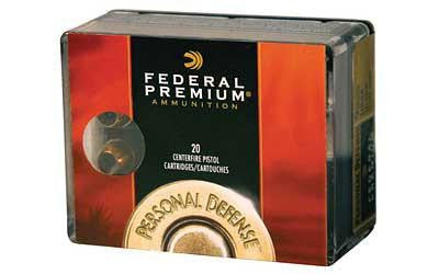 Federal Premium Personal Defense Low Recoil 40 Smith & Wesson 135 Grain Expanding Full Metal Jacket