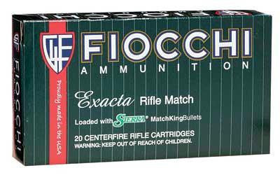 Fiocchi 308 Winchester 175 Grain Boat Tail Hollow Point Sierra Matchking