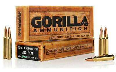 Gorilla 223 Remington 69 Grain Boat Tail Hollow Point Sierra Matchking-Ammunition-Ardie Arms