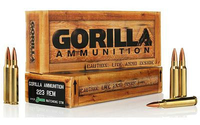 Gorilla 223 Remington 77 Grain Boat Tail Hollow Point Sierra Matchking