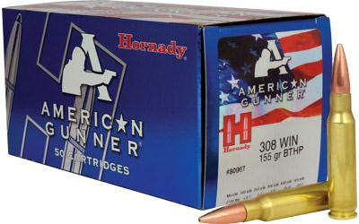 Hornady American Gunner 308 Winchester 155 Grain Boat Tail Hollow Point