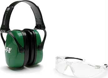 Howard Leight Adult Shooting Eye & Earmuff Combo Kit Green Color