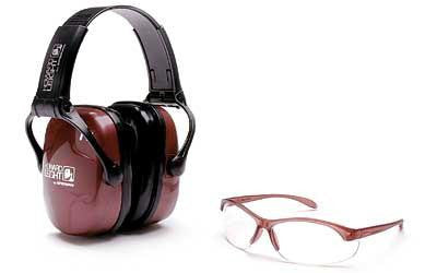 Howard Leight Adult Shooting Eye & Earmuff Combo Kit Rose Color