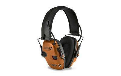 Howard Leight Impact Sport Bolt Electronic Earmuff in Orange