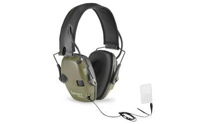 Howard Leight Impact Sport Electronic Earmuff Folding Green Color