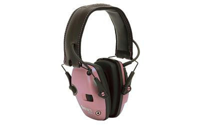 Howard Leight Impact Sport Electronic Earmuff Folding Pink Color