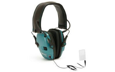 Howard Leight Impact Sport Electronic Earmuff Folding Teal Color