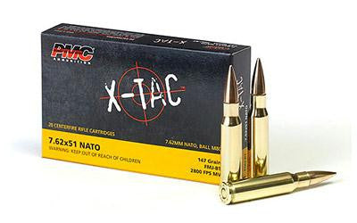 PMC X-Tac 7.62x51mm NATO 147 Grain Full Metal Jacket Boat Tail