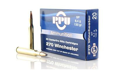 Ppu 270win Sp 130 Grain Weight 20-500-Ammunition-Ardie Arms