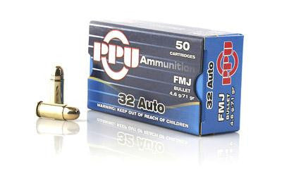 Prvi Partizan PPU 32 ACP 71 Grain Full Metal Jacket
