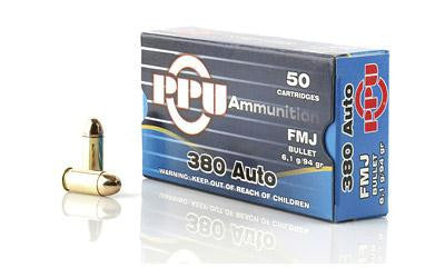 Prvi Partizan PPU 380 ACP 94 Grain Full Metal Jacket-Ammunition-Ardie Arms