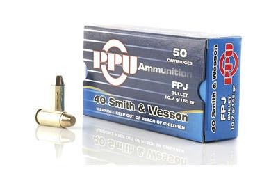 Prvi Partizan PPU 40 Smith & Wesson 165 Grain Flat Point Jacketed-Ammunition-Ardie Arms