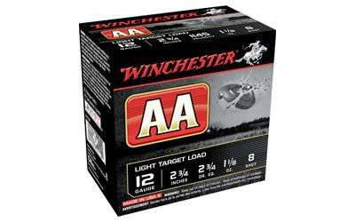 "Winchester AA Track Black 12 Gauge 2-3/4"" #8 Shot-Ammunition-Ardie Arms"