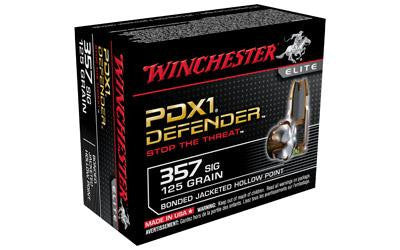 Winchester Defender 357 Sig 125 Grain Jacketed Hollow Point