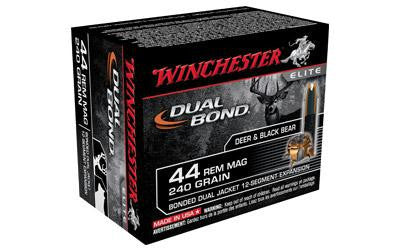 Winchester Dual Bond 44 Magnum 240 Grain Bonded Jacketed Hollow Point