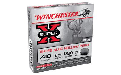 "Winchester Super-X 410 Gauge 2-1/2"" 1/5 Oz. Rifled Slug"