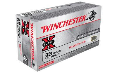 Winchester Super-X Silvertip 38 Special 110 Grain Jacketed Hollow Point