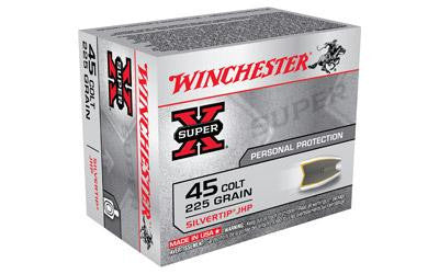 Winchester Super-X Silvertip 45 Long Colt 225 Grain Jacketed Hollow Point
