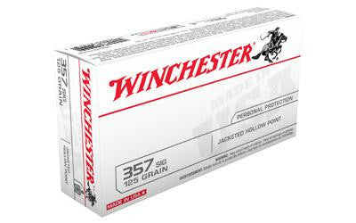 Winchester USA 357 Sig 125 Grain Jacketed Hollow Point