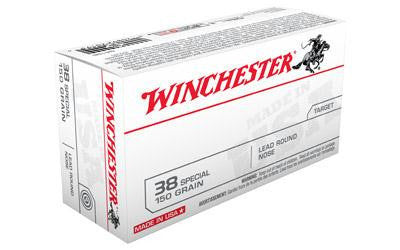 Winchester USA 38 Special 150 Grain Lead Round Nose
