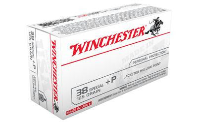 Winchester USA 38 Special +P 125 Grain Jacketed Hollow Point