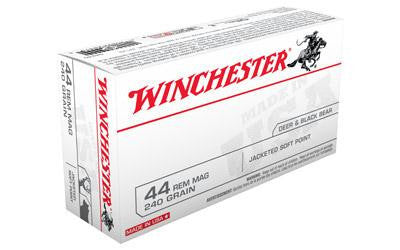 Winchester USA 44 Magnum 240 Grain Jacketed Soft Hollow Point