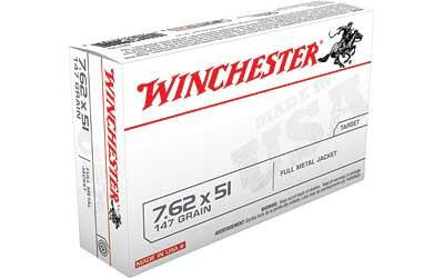 Winchester USA 7.62x51mm NATO 147 Grain Full Metal Jacket Boat Tail