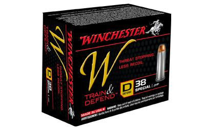 Winchester W Defend 38 Special 130 Grain Jacketed Hollow Point