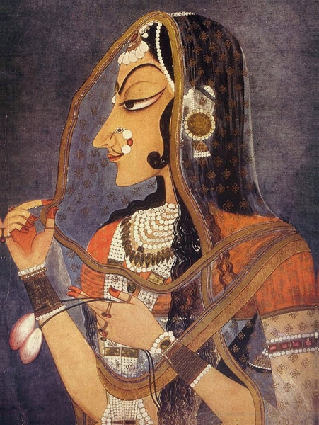 Kishangarh style Miniature Painting of Bani Thani