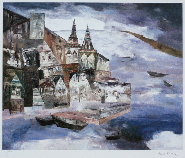 Signed Limited Edition Print of 'Benaras' by artist Ram Kumar