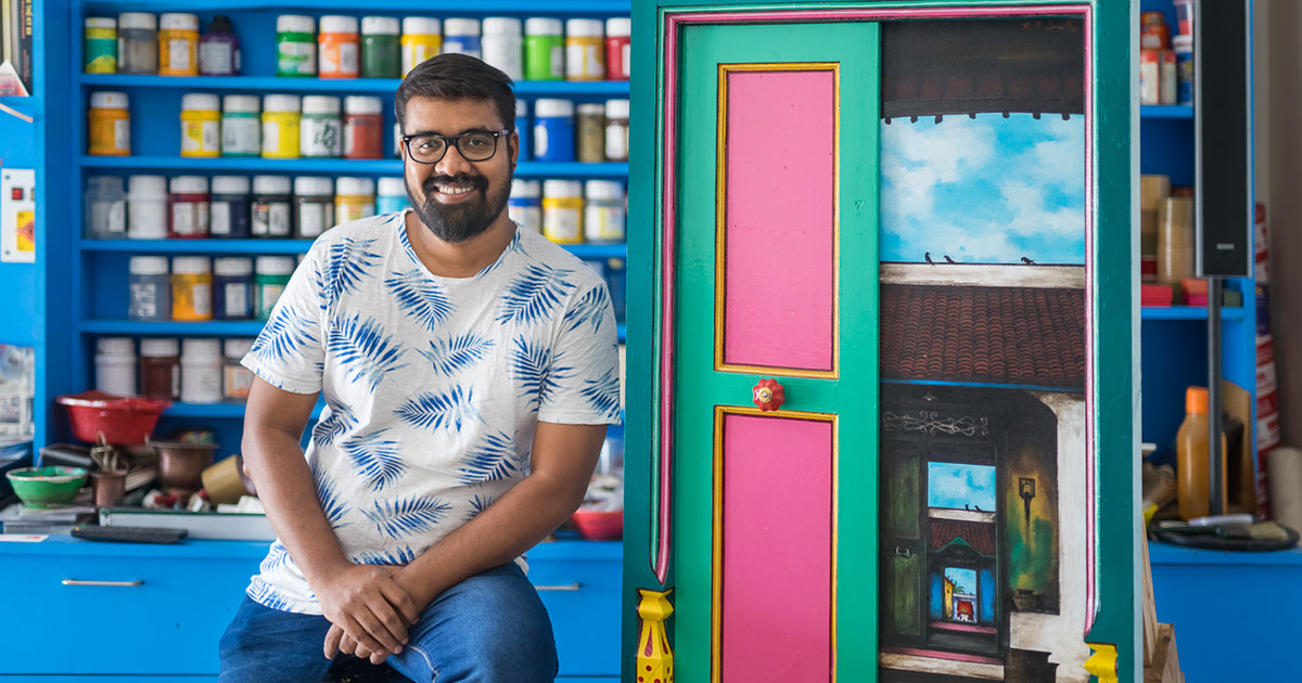 K.R. Santhana Krishnan's Door Paintings: Evoking Memories of Simpler Times