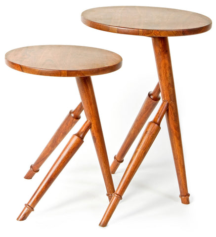 'Ranthambore' Wooden Nesting Tables by AnanTaya Decor